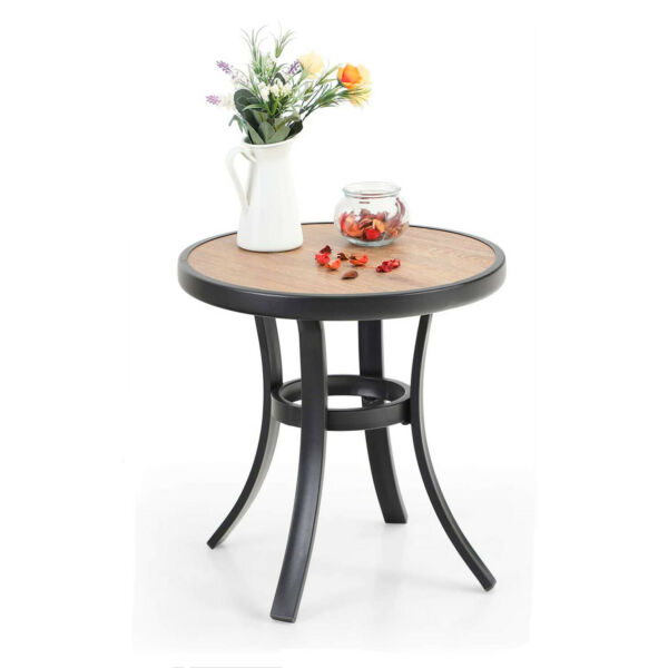 End Table Round Patio Garden Coffee Table Indoor Side Table Outdoor Furniture $42.99