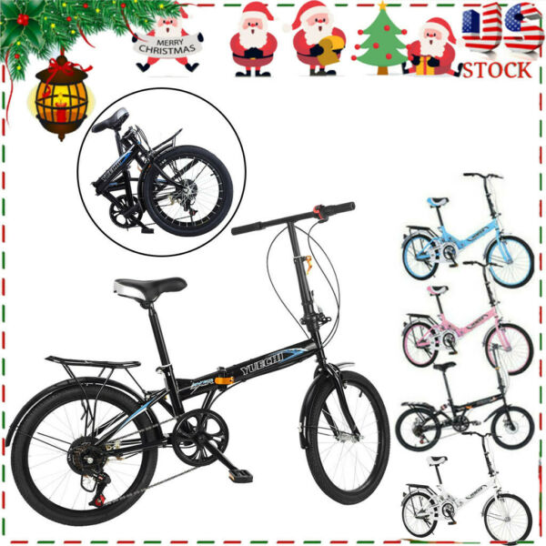 20quot; 7 Speed City Folding Compact Bike Bicycle Urban Commuter Cycling Xmas Gifts $139.99