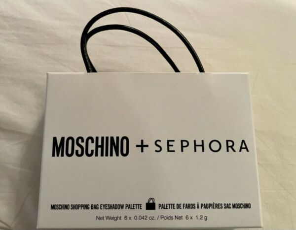 Moschino Sephora shopping bag eyeshadow palette NEW $35.50