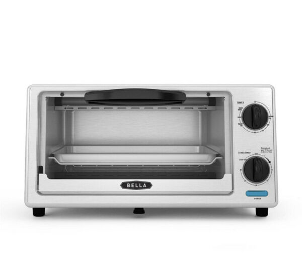 Bella 4 Slice Stainless Steel Toaster Oven New Model November 2020. NIB