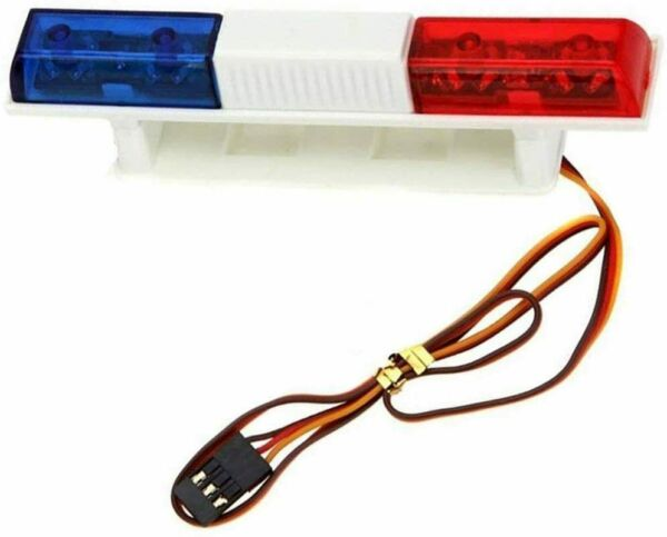 RC Car Police Lights Bright Rectangle LED Flashing Lights for 1 8 1 10 Model RC