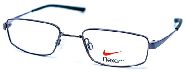 NIKE with FLEXON KIDS 4632 033 Gunmetal Teal Eyeglasses Frames 45 17 125