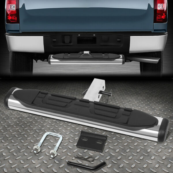 FOR 2quot; RECEIVER REAR BUMPER TRAILER TOWING HITCH STEP BAR GUARD 26quot;WIDE X 4quot;OVAL $43.88