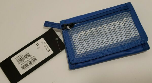 Oakley 90#x27;s Trifold Wallet Electric Shade Blue 95154 Brand New Fast Shipping $26.09