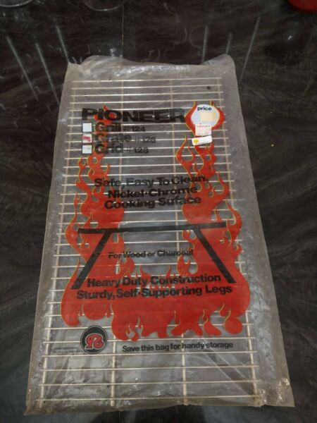 Pioneer Grill Grate #126 Safe Easy Nickel Chrome Cooking Surface NEW
