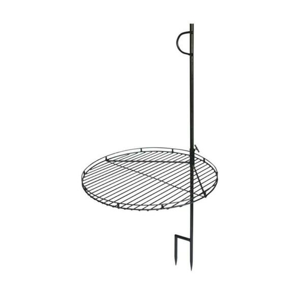 46quot; Portable Swing Away Wood Fire Cooking Grill Grate Campfire Pit Camp Stake $75.00