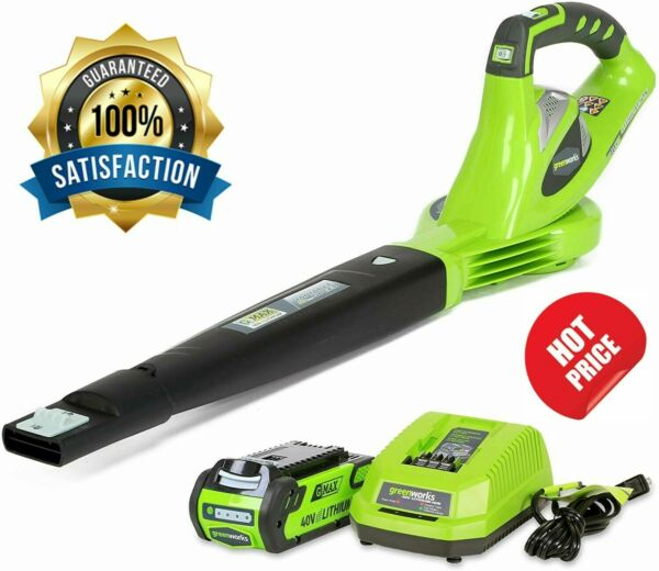 Greenworks 40V 150 MPH Variable Speed Cordless Leaf Blower with 2.0 AH Battery