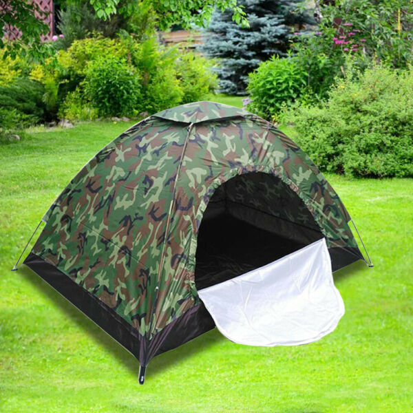 Camping Tent Automatic Folding Quick Shelter Hiking Outdoor for 3 4 Persons $20.99