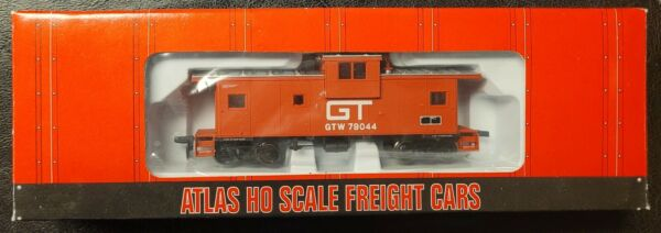 Atlas HO 1915 Grand Trunk Western GTW Extended Vision Caboose NEW in Box $34.95