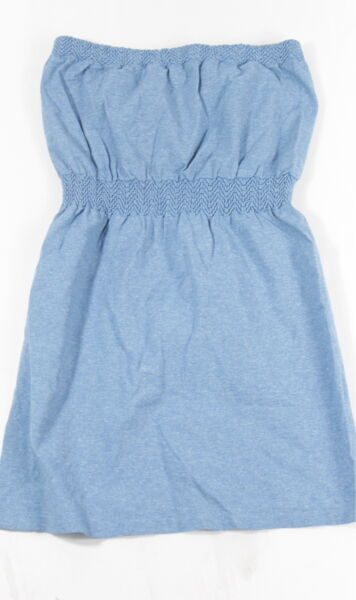 New Bebe Womens Seamless Strapless Long Peplum Tube Top Heather Blue M L $34