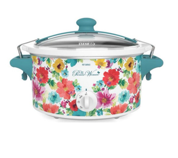 The Pioneer Woman 6 Quart QT Portable Slow Cooker Breezy Blossom Crock Pot New