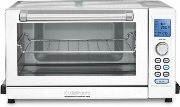 Cuisinart Deluxe Convection Toaster Oven Broiler White and Stainless