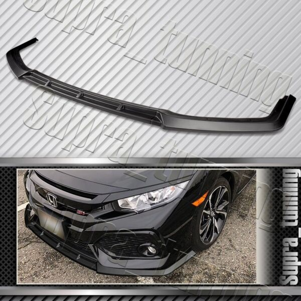 MUG Style For 2016 2020 Honda Civic Matt Black Front Bumper Body Kit Spoiler Lip