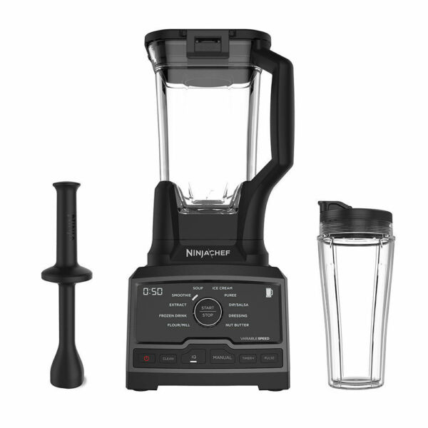 Speed Blender Mixer Processor Duo w Single Serve CupNinja Chef 1500 Watt High