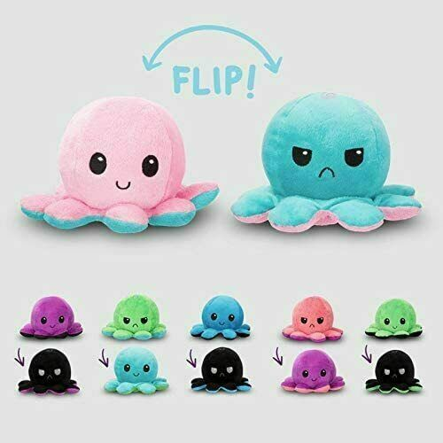 Reversible Flip Octopus Plush Stuffed Toy Soft Animal Home Accessories Baby Gift $7.99