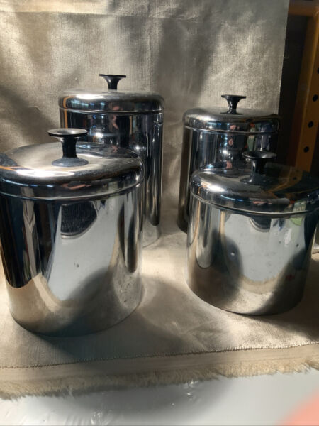 Vintage Pantry Queen 4 Pc Cannister Set