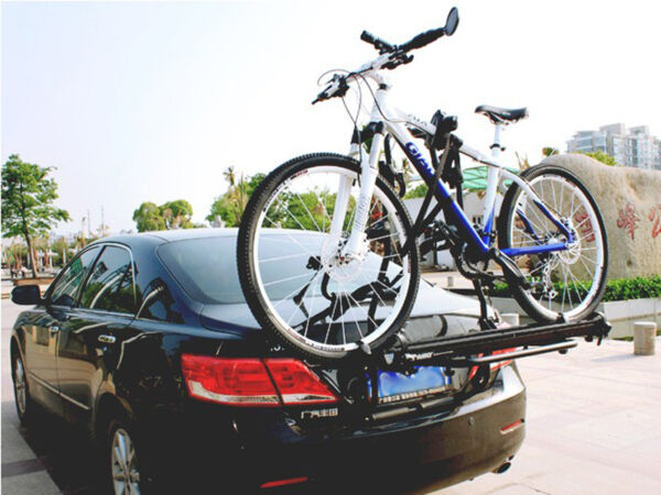 S Universal 2 Bike Bicycle Cycle Rack Rear Trunk Mount Hitch Carrier For Car SUV $706.62