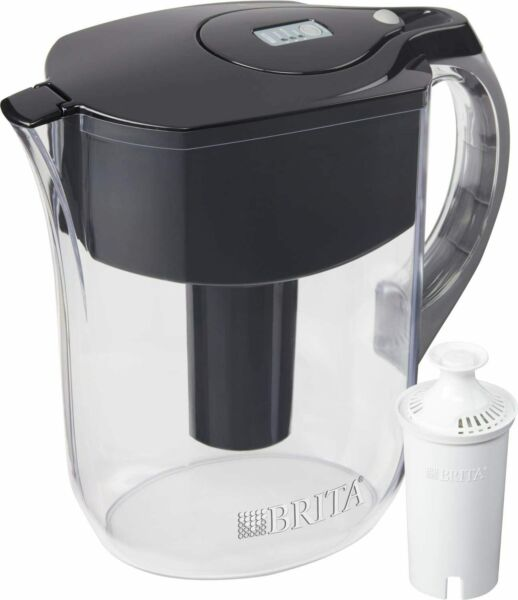 Brita Water Pitcher Large 10 Cup Black Filter Not Included