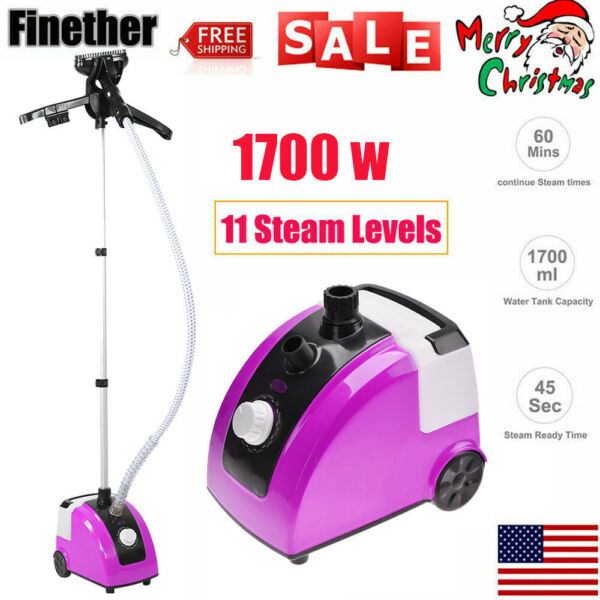 1300W Standing Clothes Fabric Steamer Iron Steam Wrinkle Remove Garment Hanger