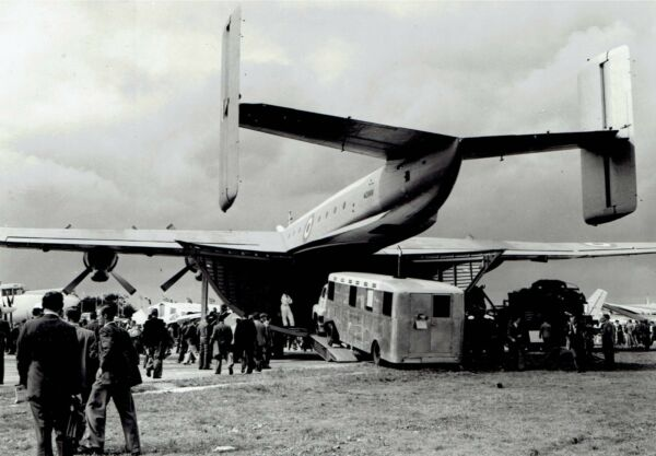 1954 Original Photo Blackburn B 101 Beverley Cargo Aircraft for Royal Air Force $5.43