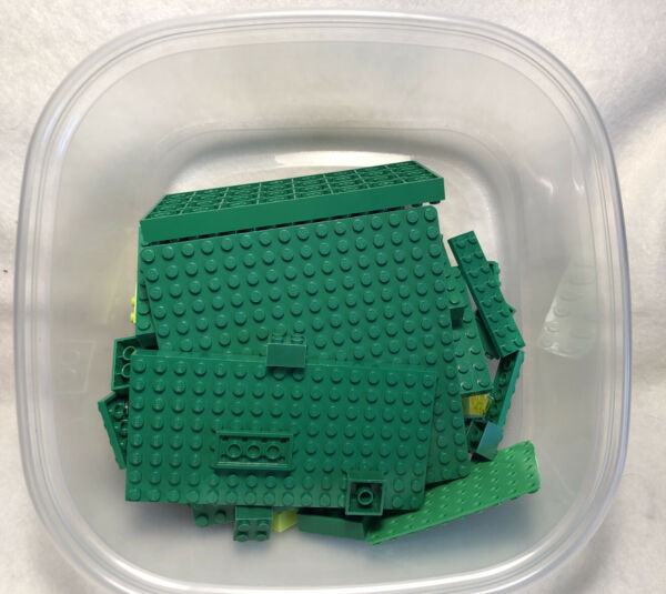 LEGO BLOCKS by COLOR: quot;GREENquot; BULK LOT 1lbs LOOSE PRE OWNED