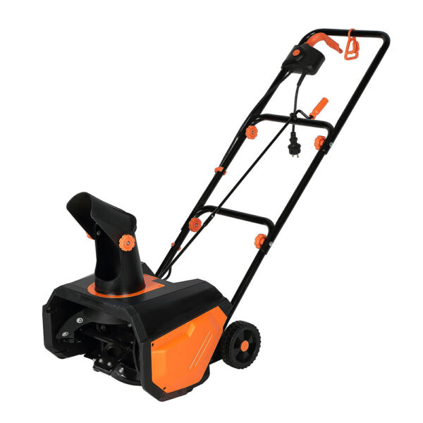 Powerful Electric Snow Blower Steel Auger 180°Rotatable Snow Tube