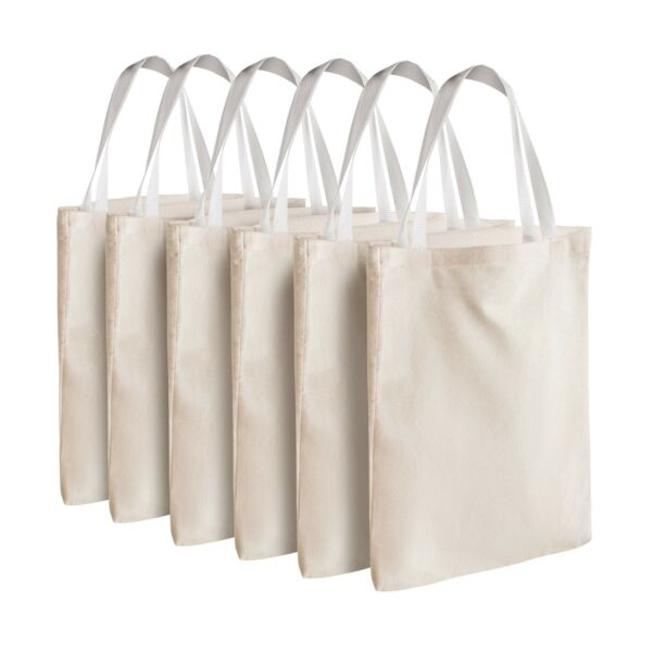 Bedwina Canvas Tote Bags Bulk Fabric Blank Reusable Grocery Comfortable Perfect