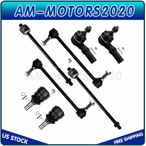 Fits 05 09 Ford Mustang Set Of 8 New Outside amp; Inner Tie Rod End Suspension Kit