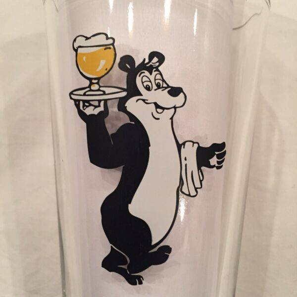 Hamm's Beer Bear With Murphy#x27;s Pub Logo Pint Beer Glass Breweriana Collectible.