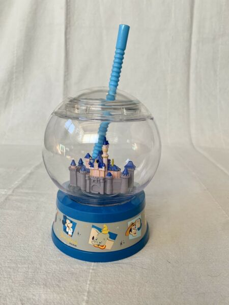 Disneyland 65th Anniversary Snowglobe SIPPER retro NEW Mickey Minnie W STRAW $27.00