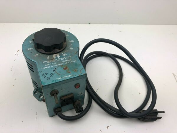STACO ENERGY PRODUCTS CO. VARIABLE AUTO TRANSFORMER 3PN1010
