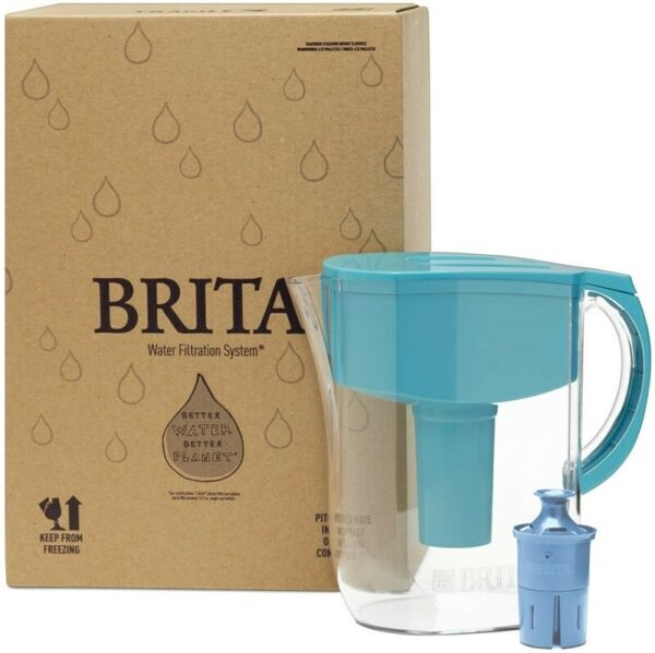 Brita Everyday Water Filter Pitcher Large 10 Cup 1 Count Turquoise