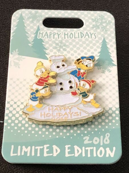 Disneyland Holiday Pin Happy Holidays 2018 Donald Duck Tales Nephews LImited $20.00