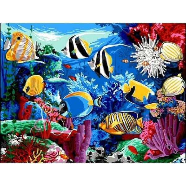Paintings by numbers Tropical fish 40x50 cm UKRAINE $50.00