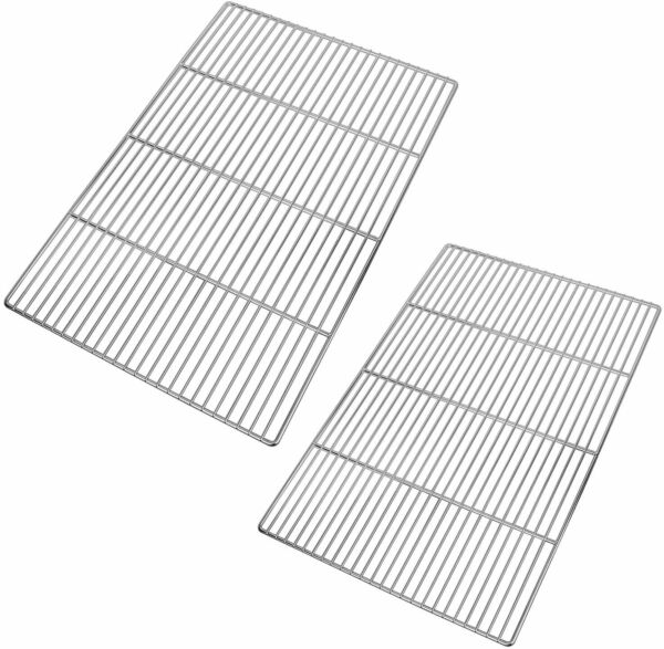 BBQ Grill Parts 2 Pack Stainless Steel Multifunction BBQ Grill Grates Large
