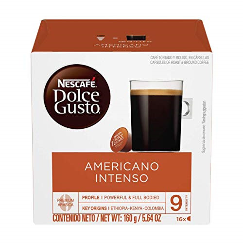 Nescafe Dolce Gusto Coffee Pods Americano Intenso 16 capsules Pack of 3
