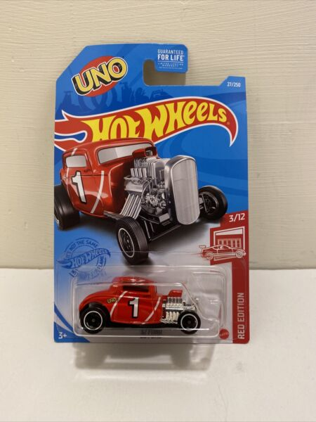 Hot Wheels #x27;32 Ford Red Edition UNO