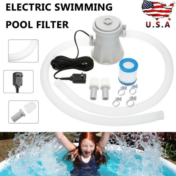 Electric White Swimming Pool Filter Pump Water Cleaning Tools Above Ground Pools $41.69