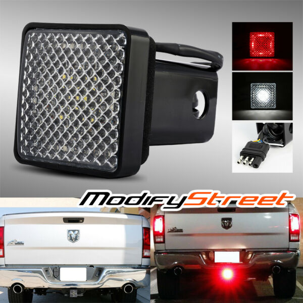 LED RUNNING BRAKE REVERSE TOW HITCH COVER LIGHT FOR TRUCK TRAILER 2quot; RECEIVER $15.69