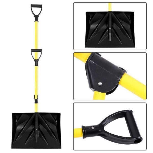 Snow Shovel Lightweight Snow Remover Ice Scraper With Spring Assisted Handle