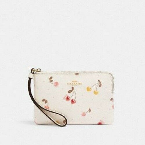 Ivory off white Coach Wristlet Cherries...cute for Spring $49.00
