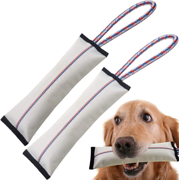 Dog Chew Toy Tough Dog Toys Aggressive Chewers Tug Firehose Fetch Thrower 2 Pack $10.60