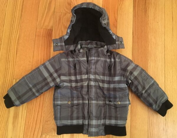 Burberry Boys Toddlers Kids Checkered Winter Puffer Jacket Coat. Blue. Size 4. $275.00