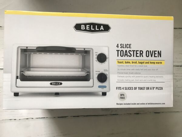 Bella 4 Slice Toaster Oven Stainless Steel Brand New In Box