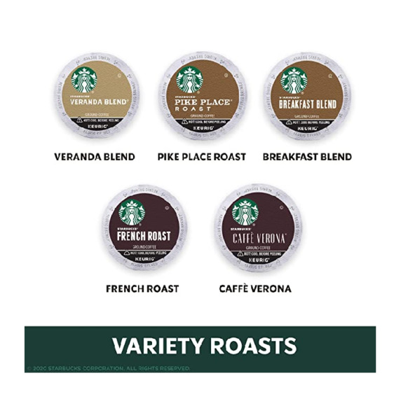 Starbucks Coffee Pods Blonde Medium Dark Roast Variety Pack 40 pods BB 9 2019