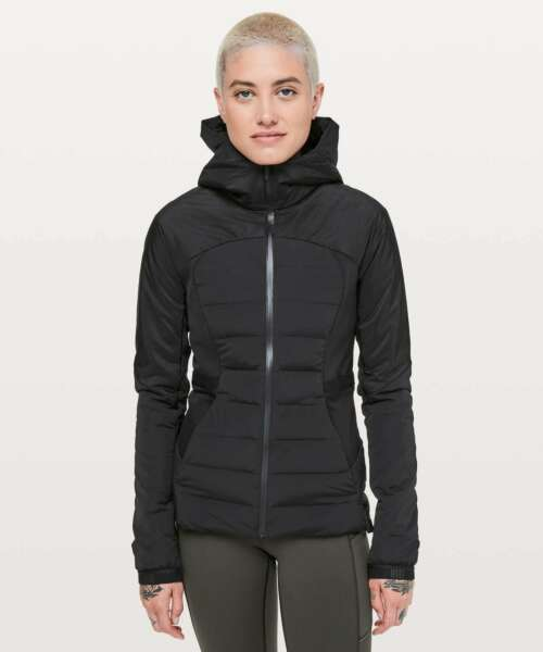 NWT Lululemon Down For It All Jacket SIZE:246,8 Black $168.00