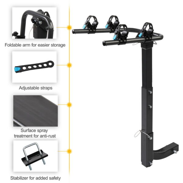 2 BICYCLE RACK Trailer Hitch BIKE CARRIER Car amp; Truck Racks SUV Van RV Auto $73.99