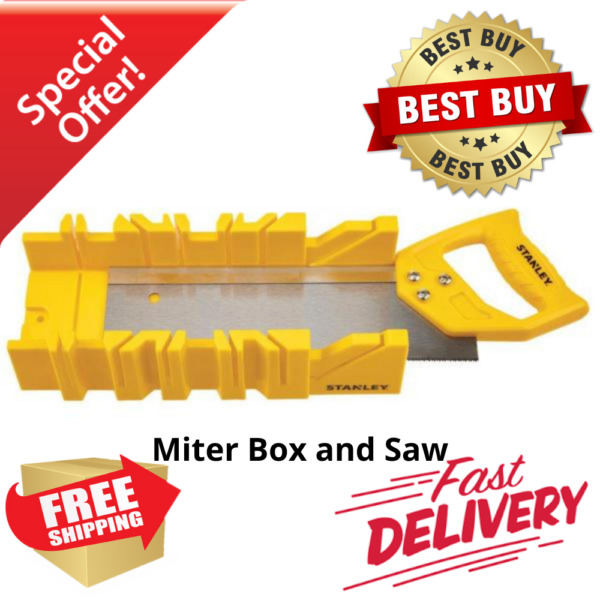 Stanley Miter Box with Saw Included New