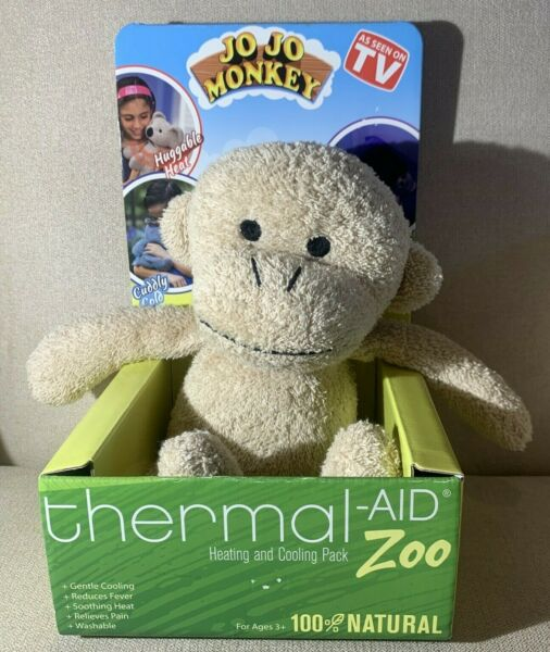 Thermal Aid Zoo Jo Jo Monkey Kids Children#x27;s Natural Heating amp; Cooling Pack NEW $19.99