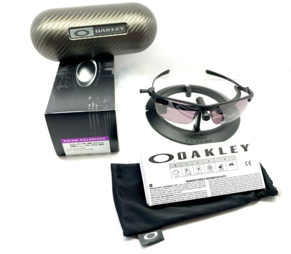 Oakley CARBON BLADE SUNGLASSES OO9174 07 MATTE CARBON PRIZM DAILY POLARIZED $256.99